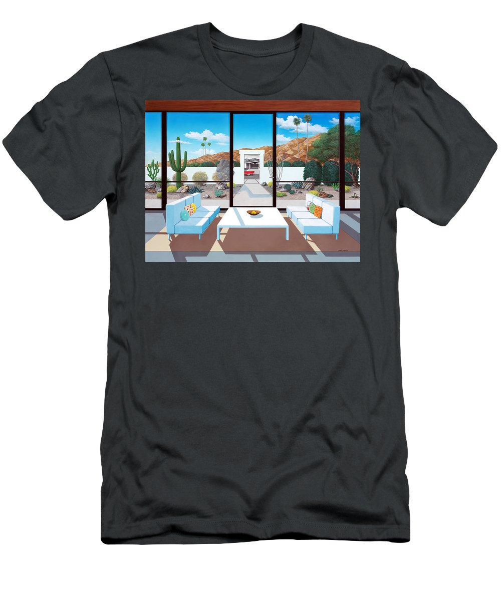Mid Century Modern T-Shirt featuring the painting Outside and Beyond by Snake Jagger