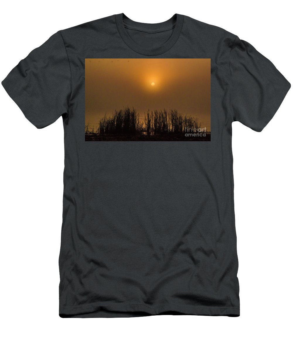 Lake Men's T-Shirt (Athletic Fit) featuring the photograph Over Golden Pond by Scott Hervieux
