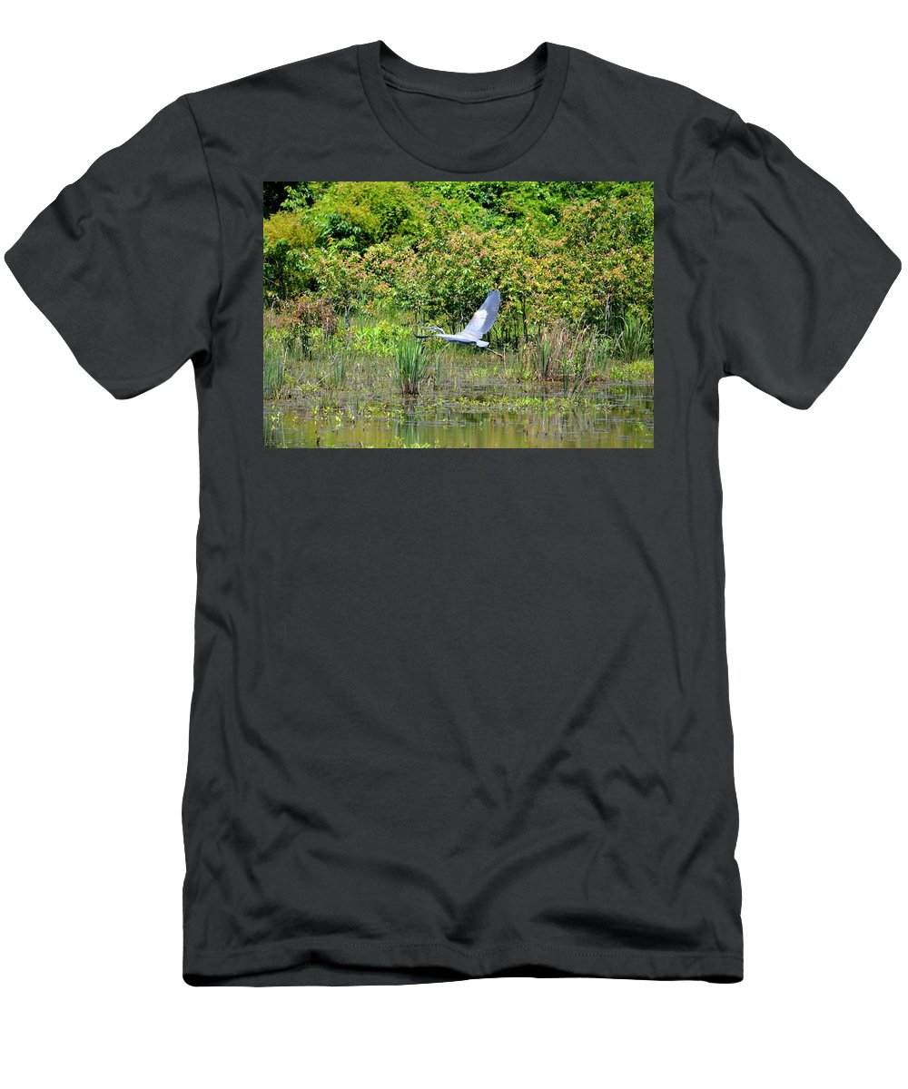 Over Golden Waters Men's T-Shirt (Athletic Fit) featuring the photograph Over Golden Waters by Maria Urso