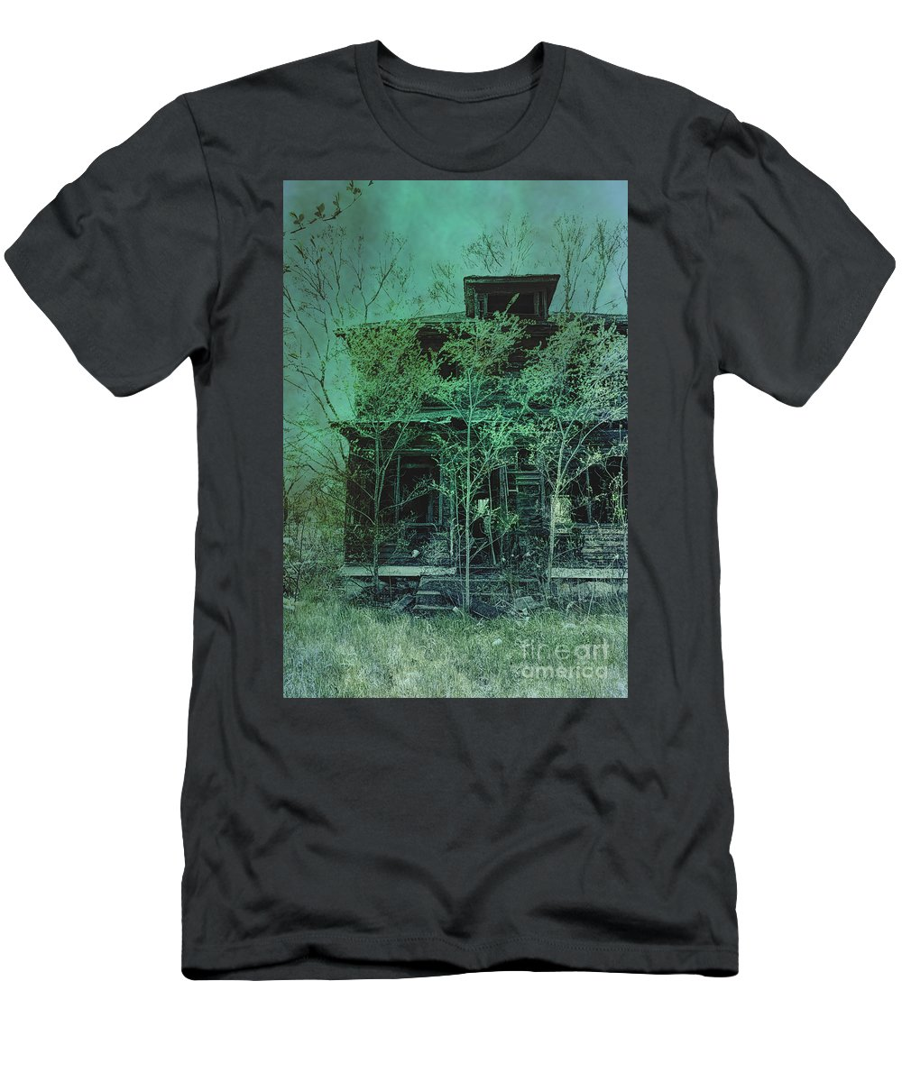 House Men's T-Shirt (Athletic Fit) featuring the photograph Overgrown by Margie Hurwich