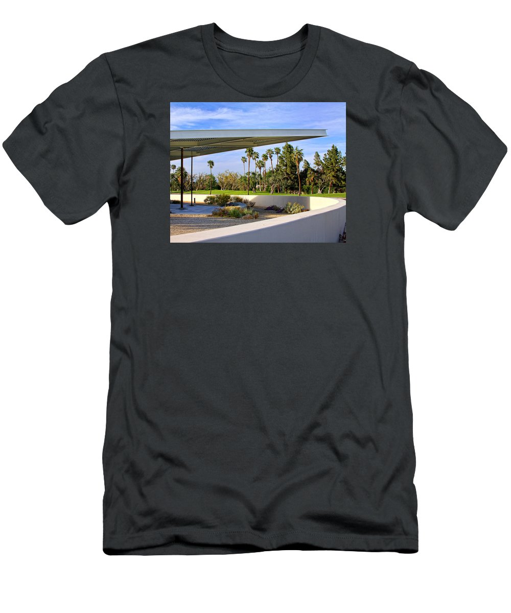 Palm Springs T-Shirt featuring the photograph OVERHANG Palm Springs Tram Station by William Dey