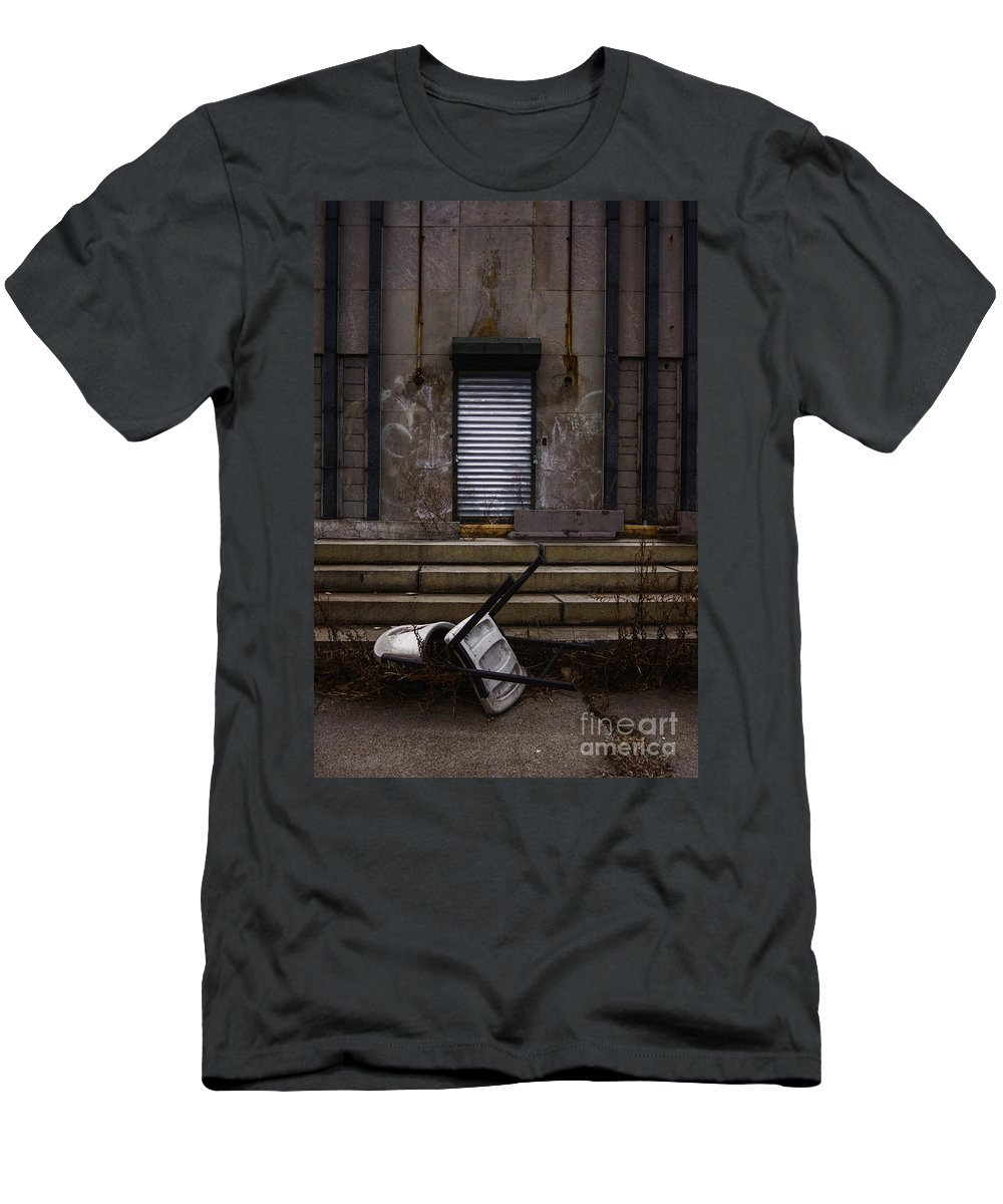 Chair Men's T-Shirt (Athletic Fit) featuring the photograph Overturned by Margie Hurwich