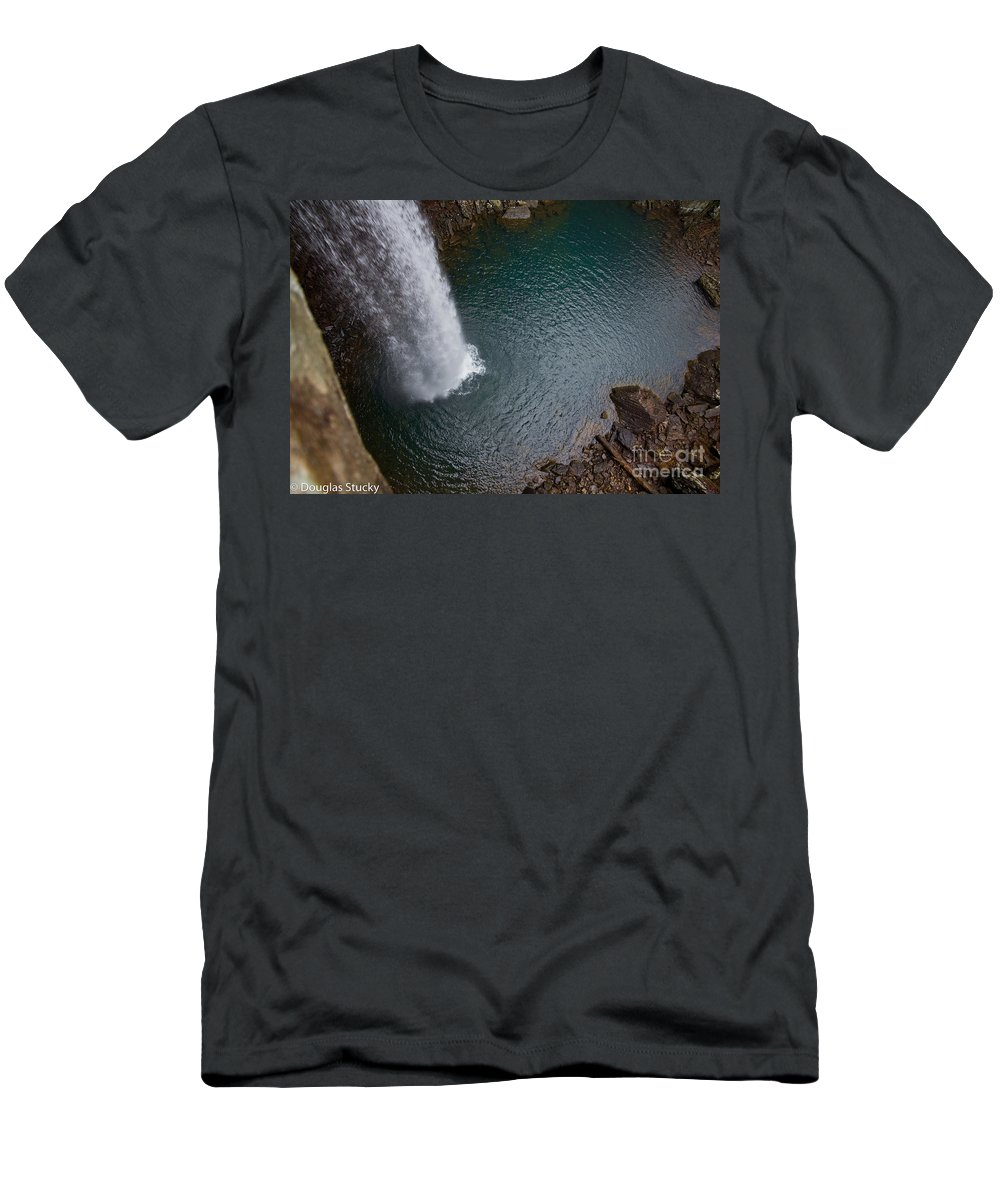 Waterfall Men's T-Shirt (Athletic Fit) featuring the photograph Ozone Falls by Douglas Stucky