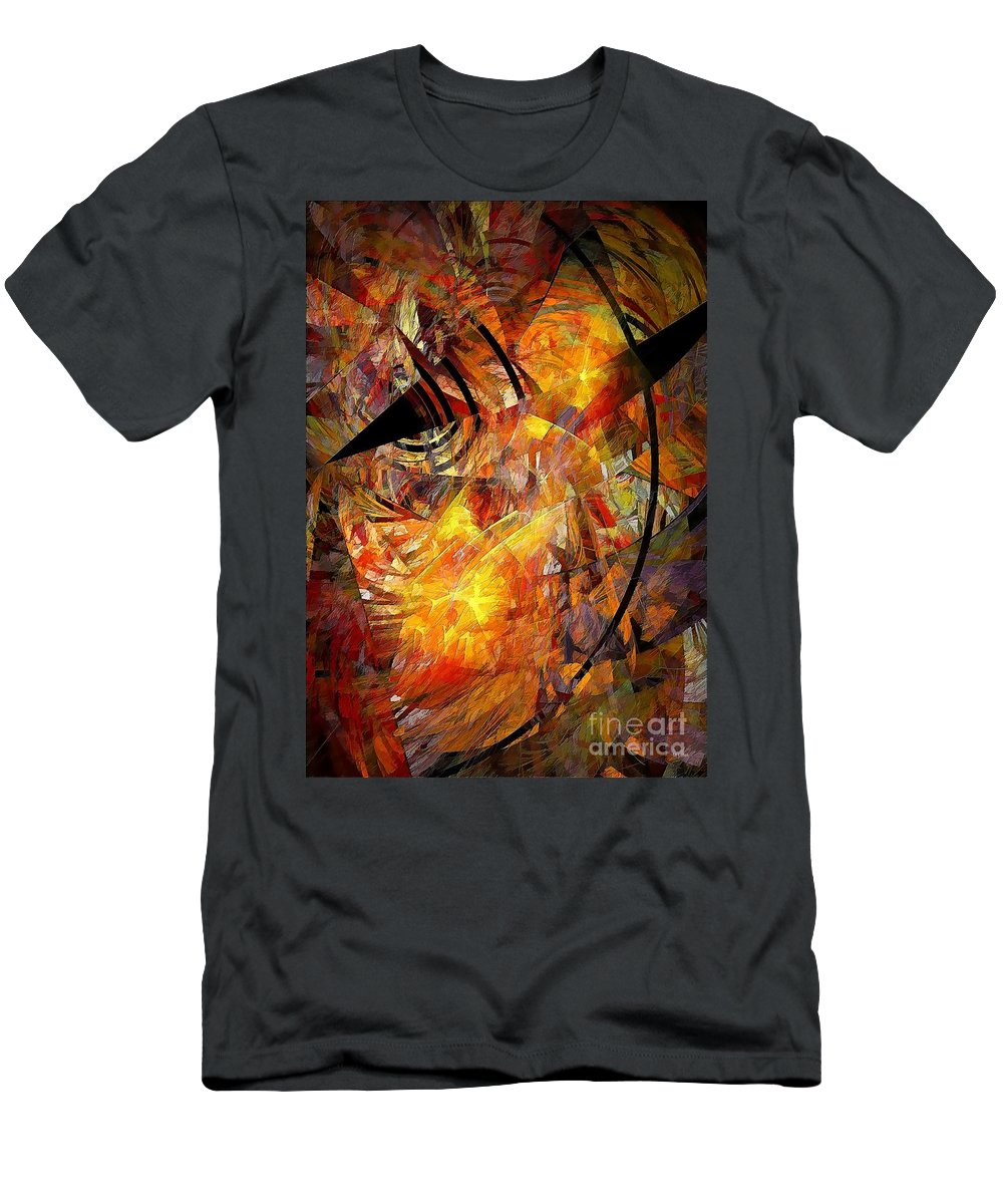 Graphic Men's T-Shirt (Athletic Fit) featuring the painting Ozyrys 692 - Marucii by Marek Lutek