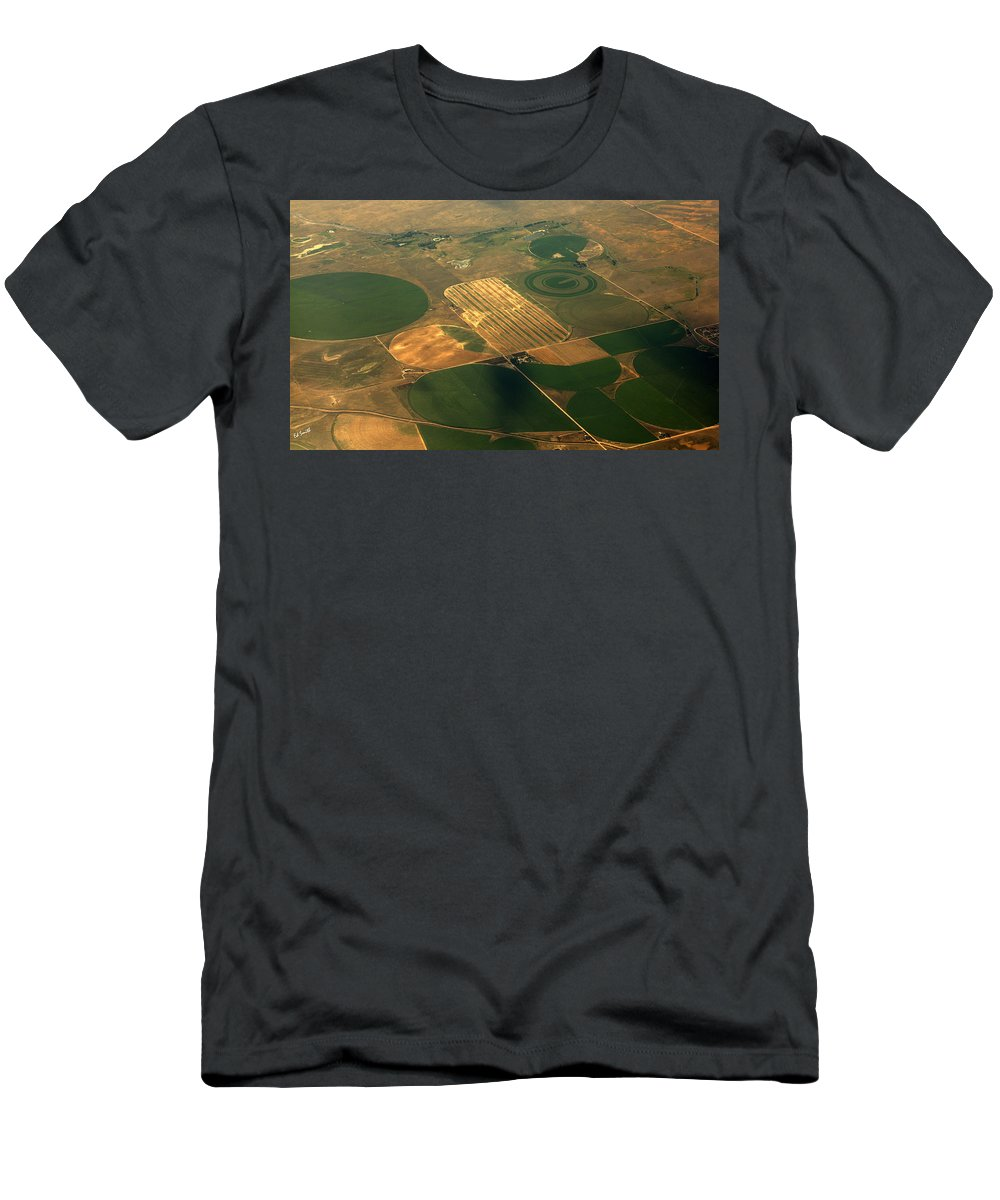 Packers Logo Farm Men's T-Shirt (Athletic Fit) featuring the photograph Packers Logo Farm by Ed Smith