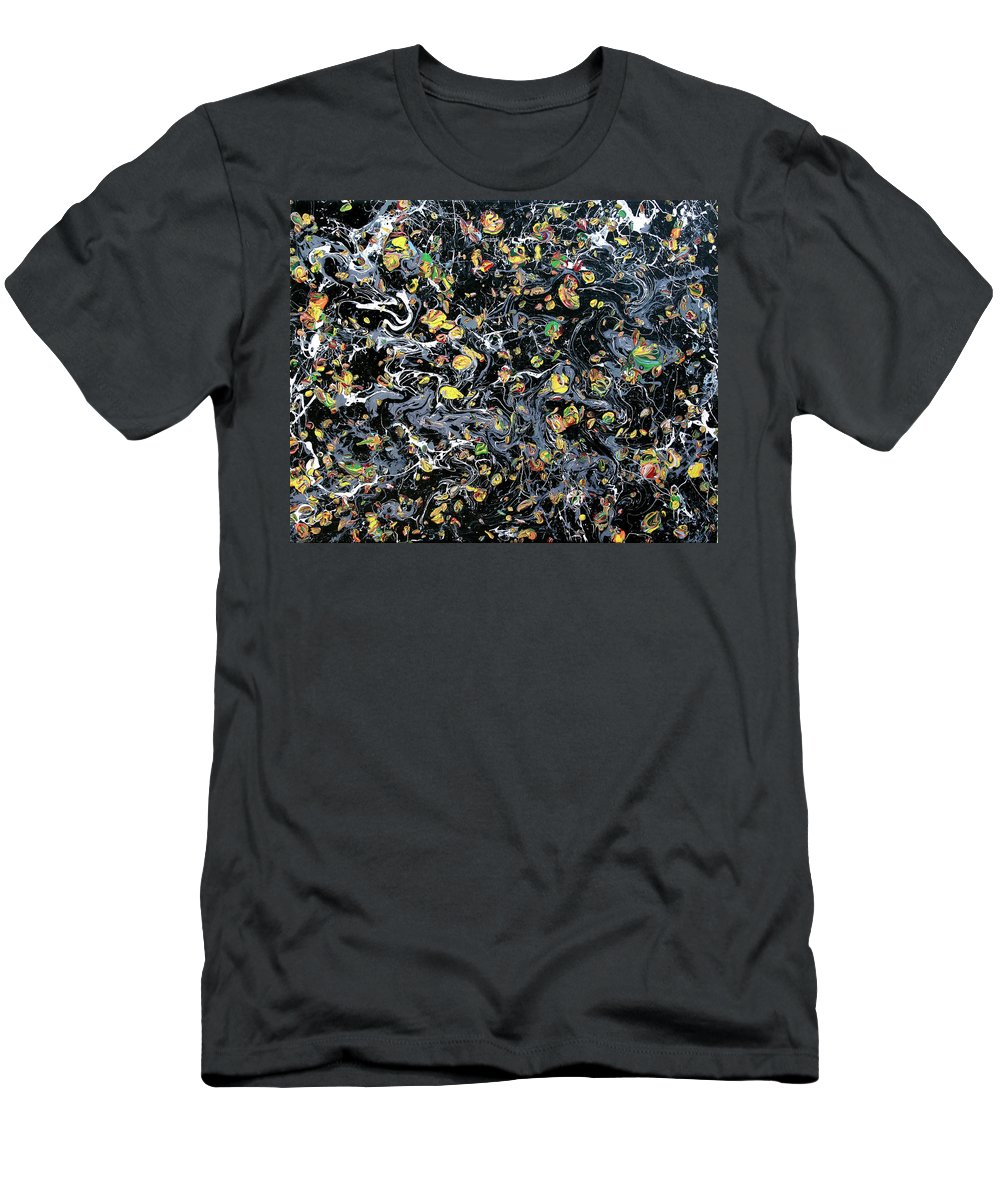 Acrylic Men's T-Shirt (Athletic Fit) featuring the painting Paint Number Eleven by Ric Bascobert