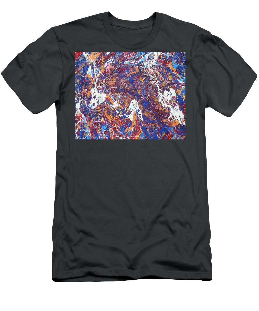 Decorator Art Men's T-Shirt (Athletic Fit) featuring the painting Paint Number Five by Ric Bascobert