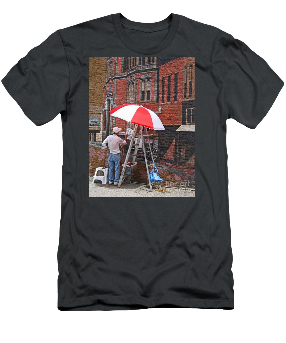 Artist T-Shirt featuring the photograph Painting the Past by Ann Horn