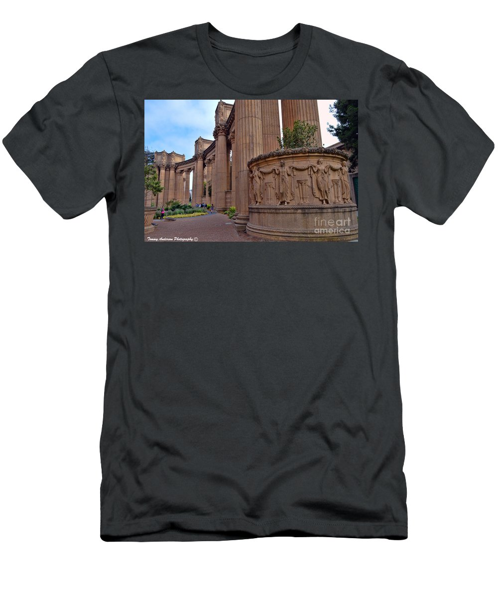 Palace Of Fine Arts Men's T-Shirt (Athletic Fit) featuring the photograph Palace Of Fine Arts -3 by Tommy Anderson