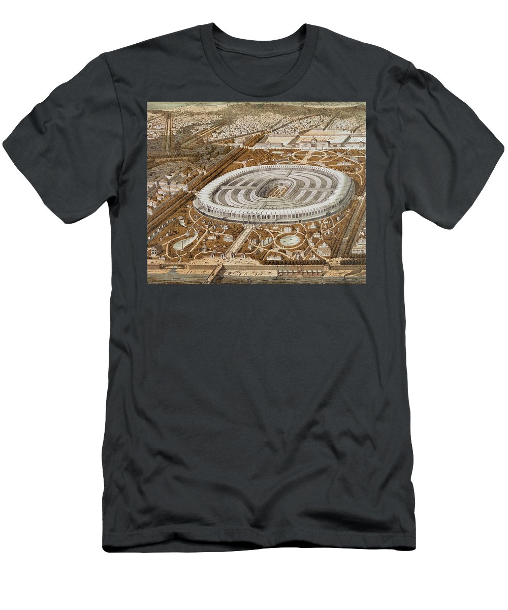 Palace Of The Universal Exhibition In Paris In 1867 Men's T-Shirt (Athletic Fit) featuring the painting Palace Of The Universal Exhibition In Paris by French School