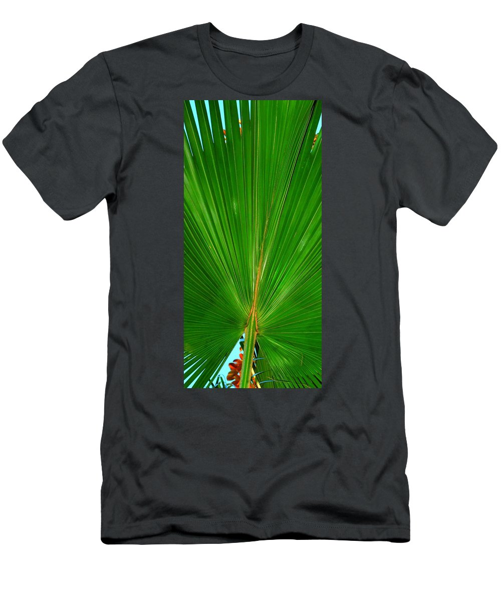 Palm Men's T-Shirt (Athletic Fit) featuring the photograph Palm Closeup by Linda Covino