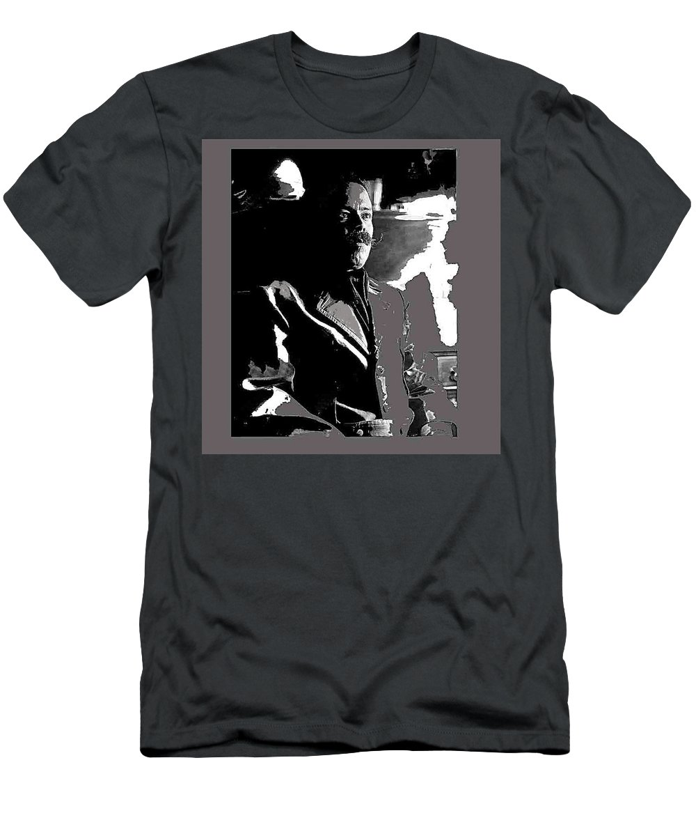 Pancho Villa Press Photo El Paso Texas 1913 Men's T-Shirt (Athletic Fit) featuring the photograph Pancho Villa Press Photo El Paso Texas 1913-2013 by David Lee Guss