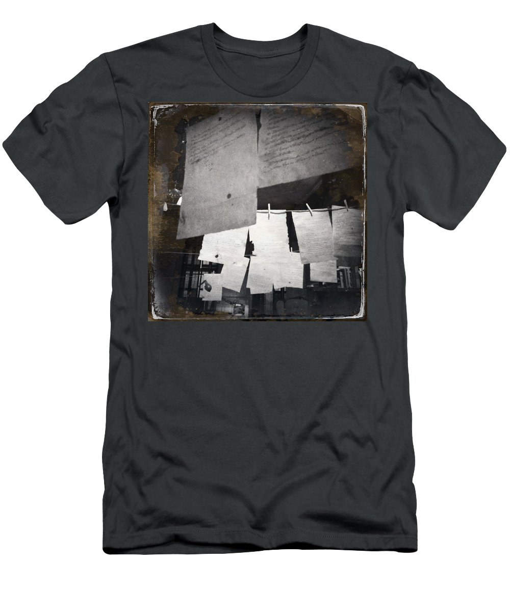 Paper Men's T-Shirt (Athletic Fit) featuring the photograph Paper by H James Hoff