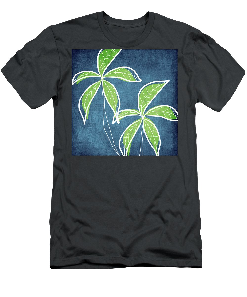 Palm Trees T-Shirt featuring the painting Paradise Palm Trees by Linda Woods