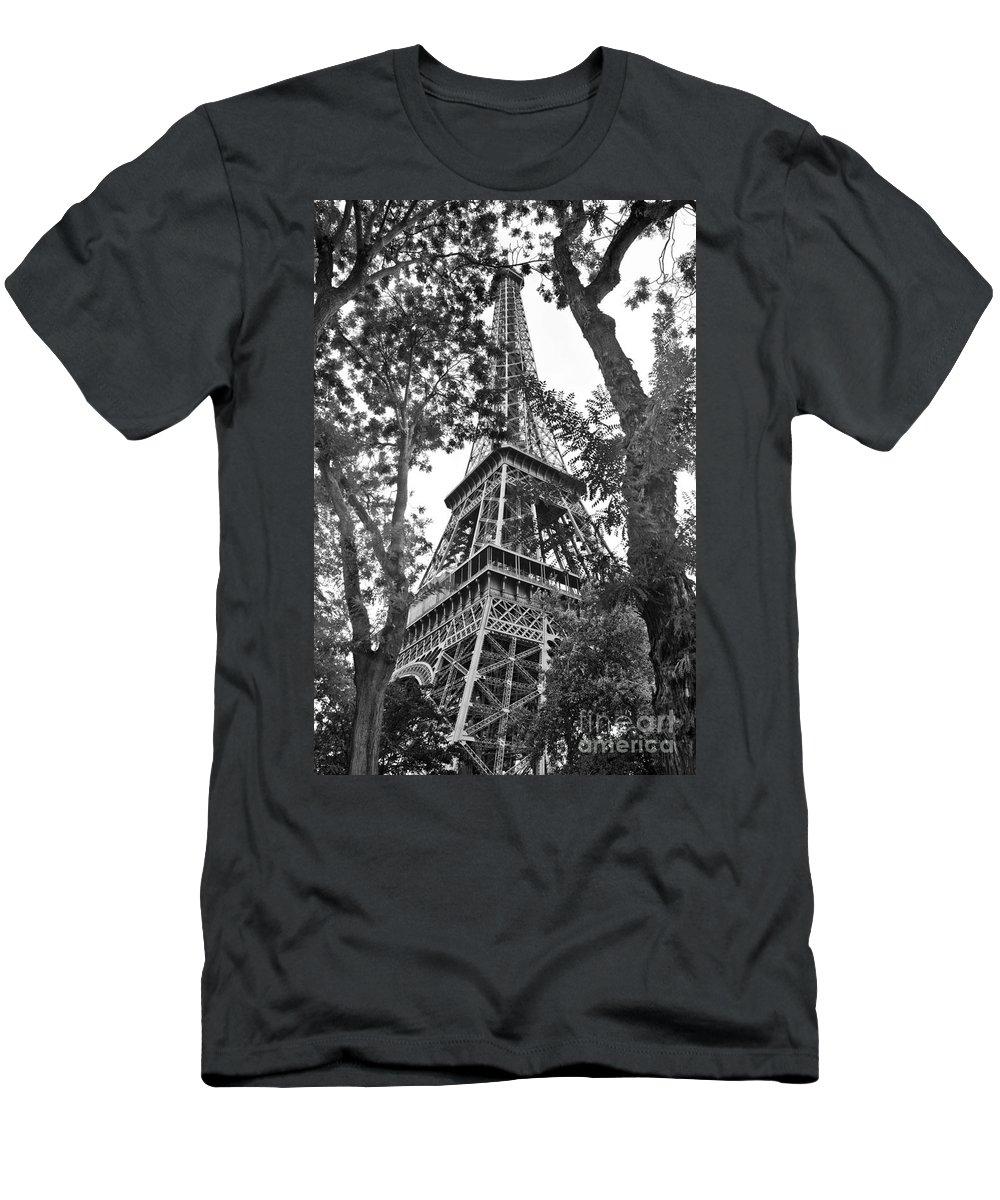 Paris Men's T-Shirt (Athletic Fit) featuring the photograph Paris Eiffel Tower by Phill Petrovic