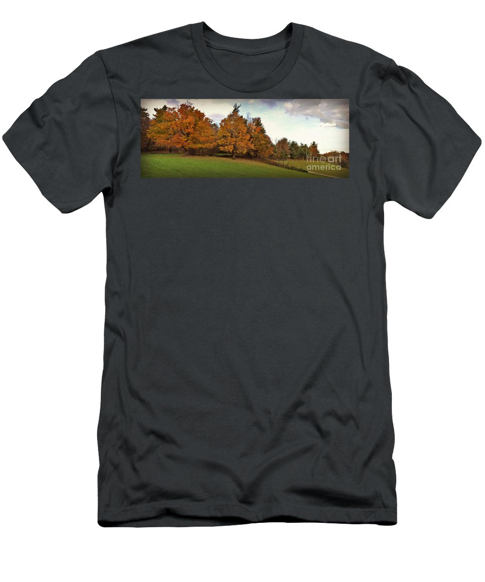 Panoramic T-Shirt featuring the photograph Parkway Panoramic by Eric Liller