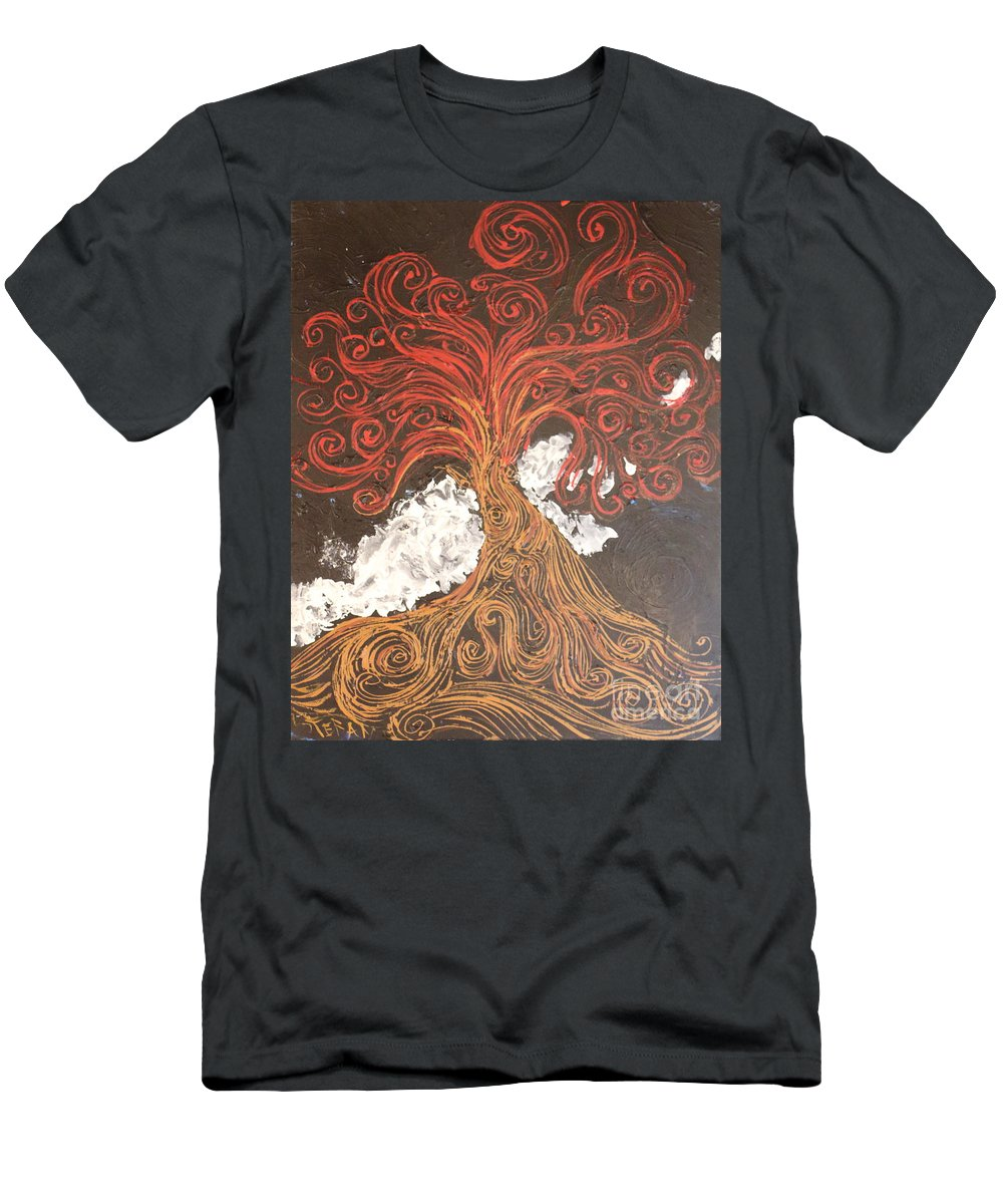 Impressionism Men's T-Shirt (Athletic Fit) featuring the painting Part The Clouds So I May See by Stefan Duncan