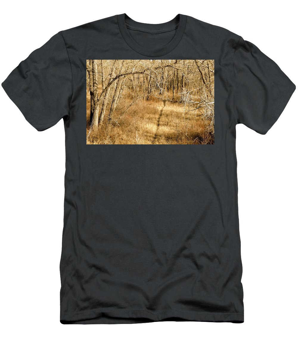 Woods Men's T-Shirt (Athletic Fit) featuring the photograph Pathways by Stephanie Bland