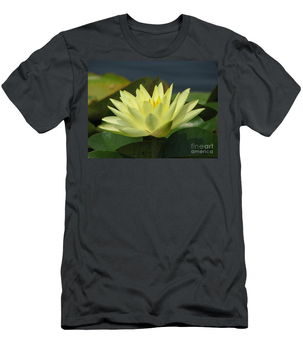 Lillies Men's T-Shirt (Athletic Fit) featuring the photograph Peace by Amanda Barcon