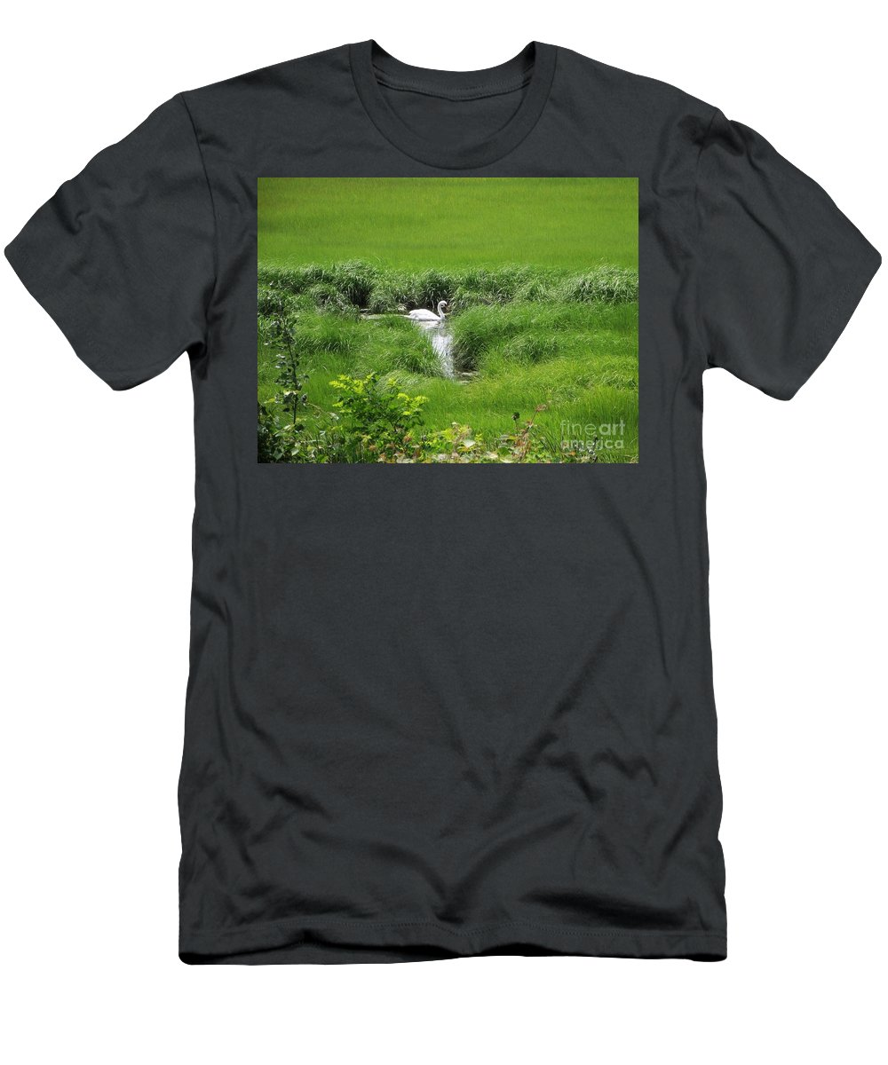 Cape Cod Men's T-Shirt (Athletic Fit) featuring the photograph Peaceful Reflection by Michelle Welles