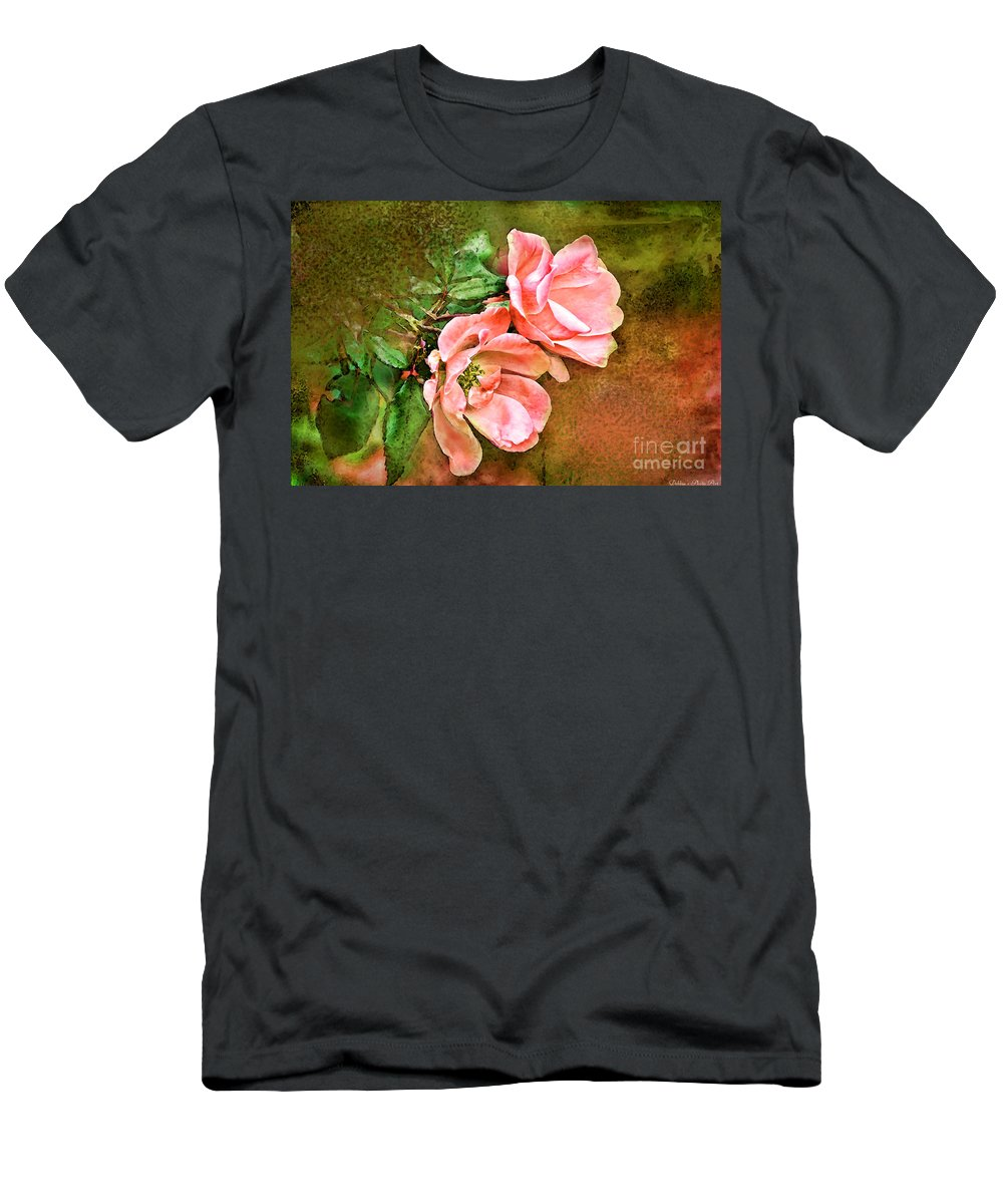 Nature Men's T-Shirt (Athletic Fit) featuring the photograph Peachy Keen by Debbie Portwood