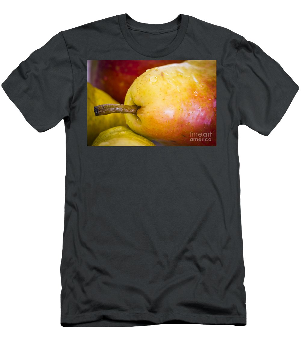 Macro Men's T-Shirt (Athletic Fit) featuring the photograph Pears by Warrena J Barnerd