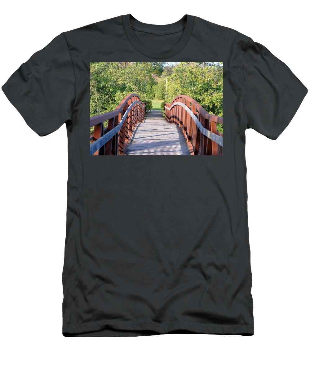Bridge Men's T-Shirt (Athletic Fit) featuring the photograph Pedestrian Bridge by Valentino Visentini
