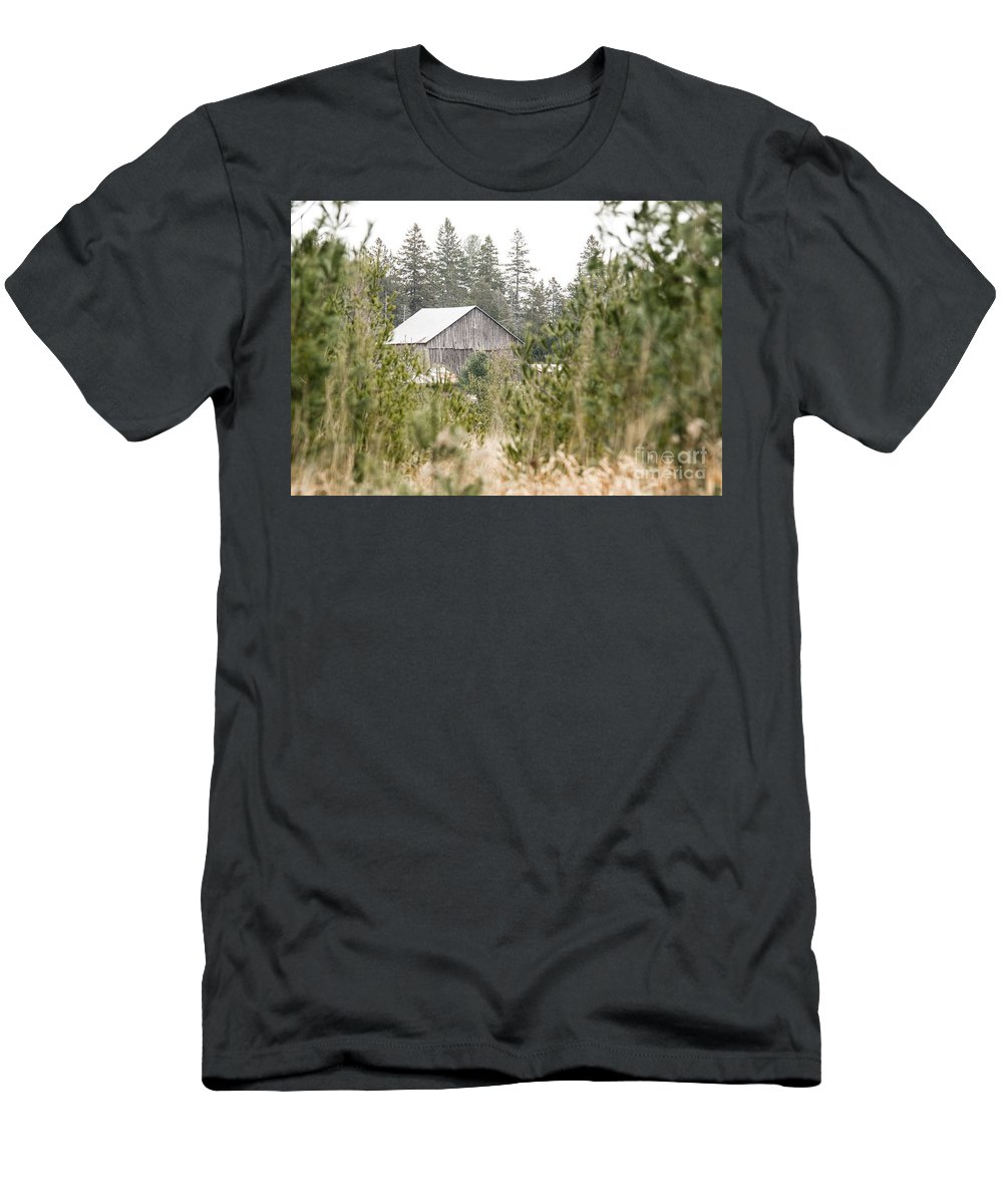 Men's T-Shirt (Athletic Fit) featuring the photograph Peek At Our Farm by Cheryl Baxter