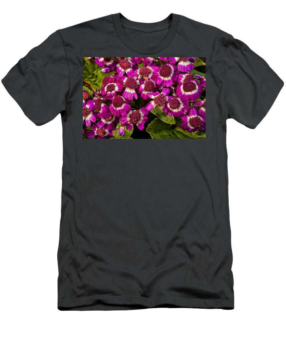 Flowers Men's T-Shirt (Athletic Fit) featuring the photograph Petals After A Shower by Karol Livote