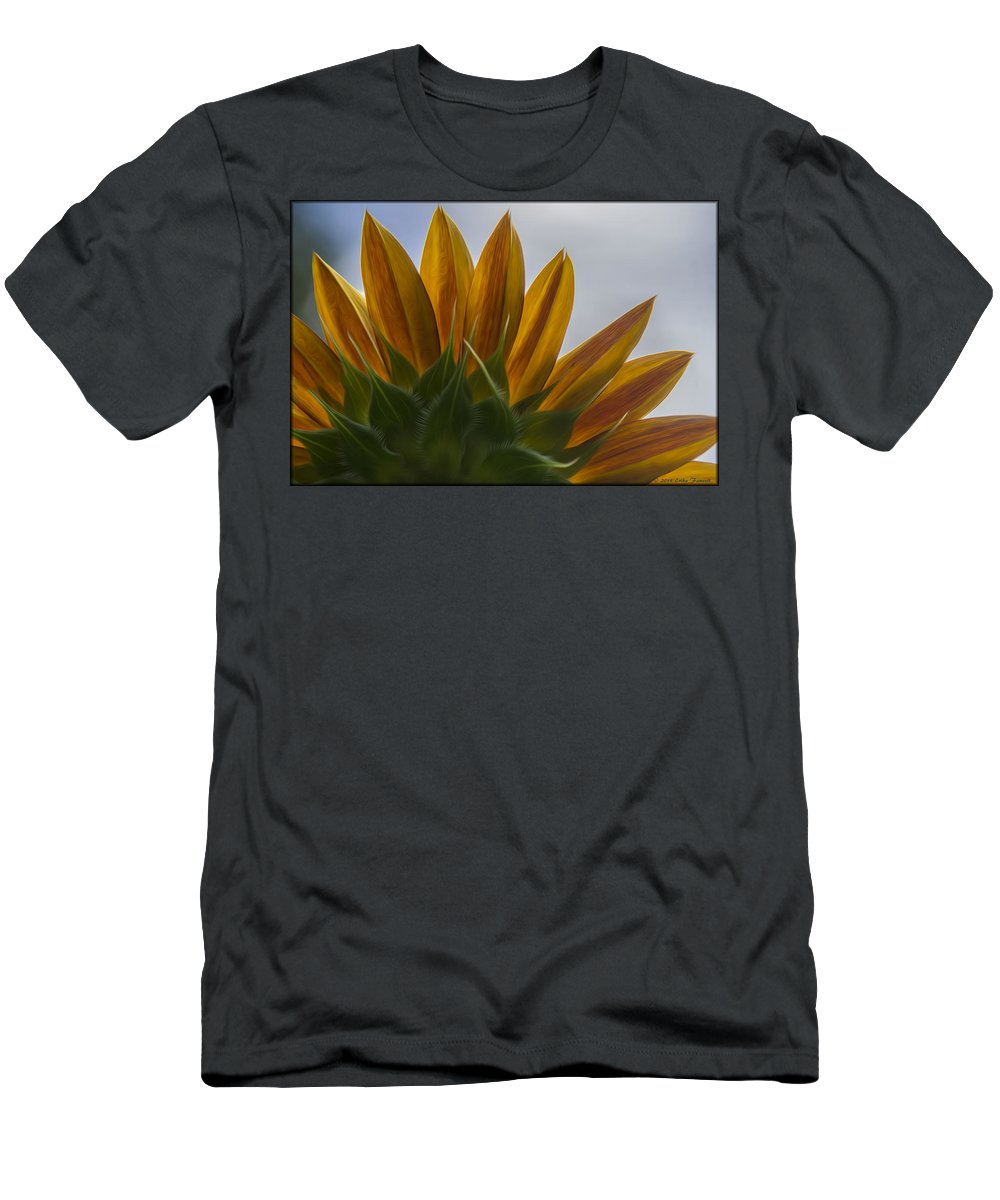Sunflower Men's T-Shirt (Athletic Fit) featuring the photograph Petals by Erika Fawcett