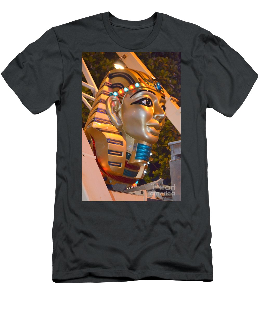 Pharaoh Men's T-Shirt (Athletic Fit) featuring the photograph Pharaoh's Canoe by Mary Deal