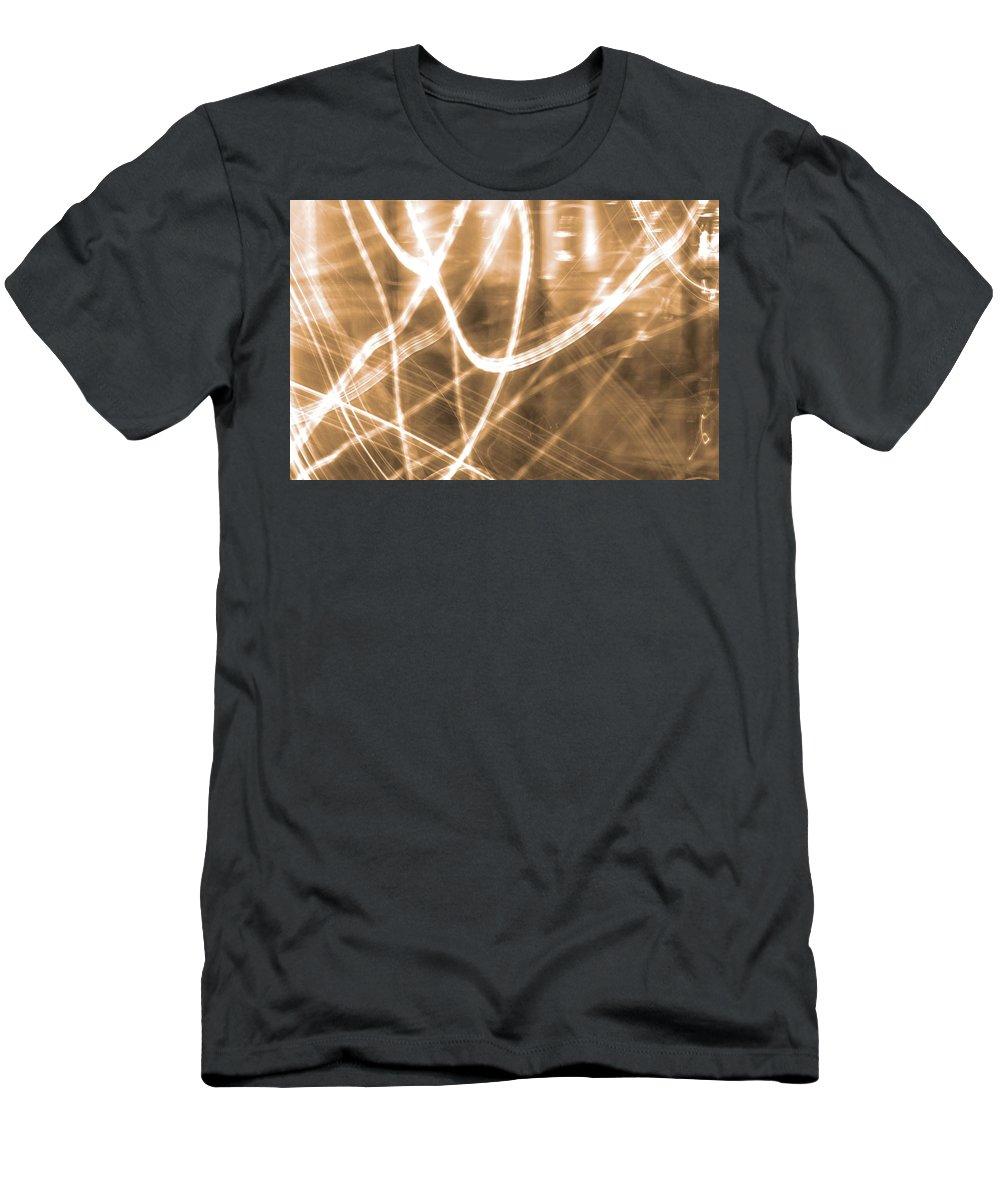Photon Flow Men's T-Shirt (Athletic Fit) featuring the photograph Photon Flow by Dan Sproul