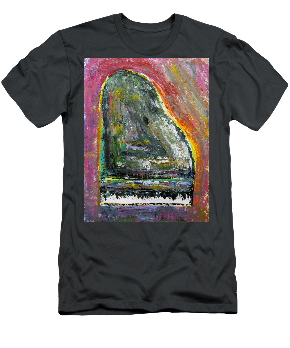 Impressionist Men's T-Shirt (Athletic Fit) featuring the painting Piano Red by Anita Burgermeister
