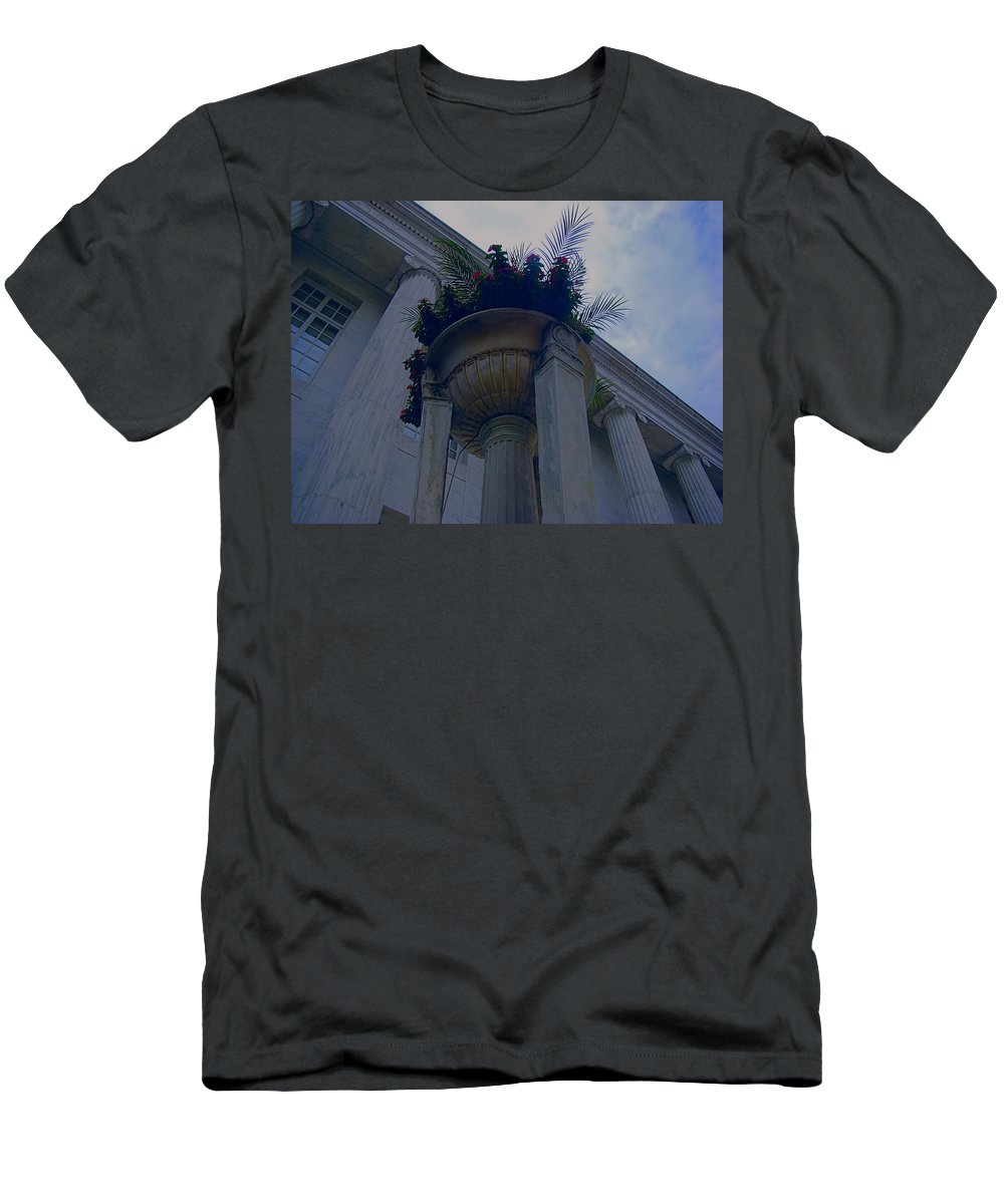 Men's T-Shirt (Athletic Fit) featuring the photograph Pillars Upon Pillars 2 by Cathy Anderson
