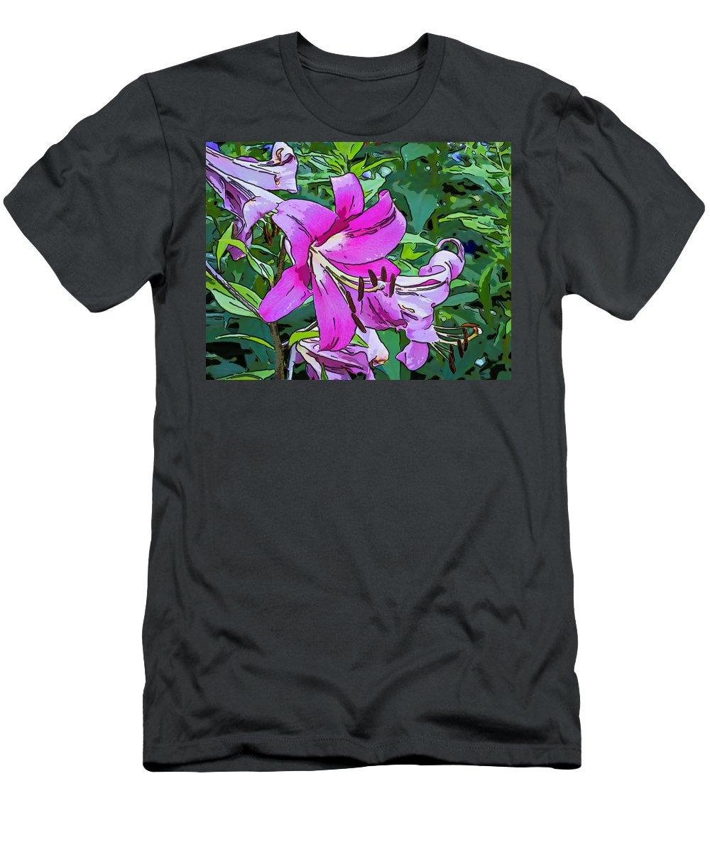Steve Harrington Men's T-Shirt (Athletic Fit) featuring the photograph Pink And Sassy...line Art by Steve Harrington