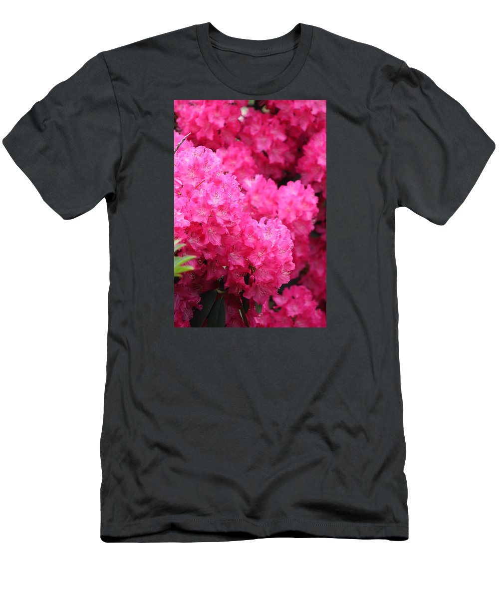 Azalea Men's T-Shirt (Athletic Fit) featuring the photograph Pink Azalea by FL collection