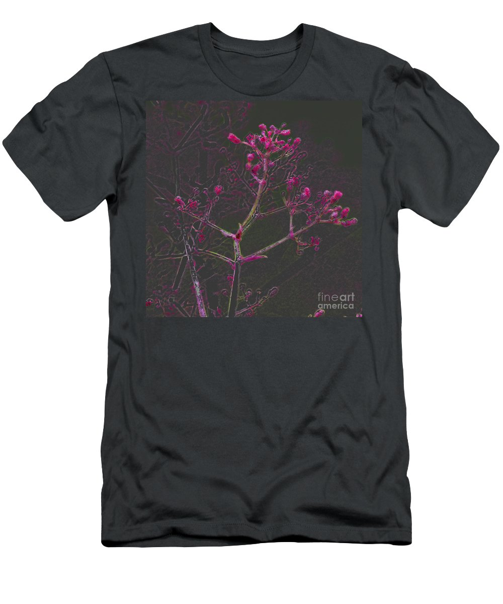 Pink Men's T-Shirt (Athletic Fit) featuring the digital art Pink Flowers by Carol Lynch