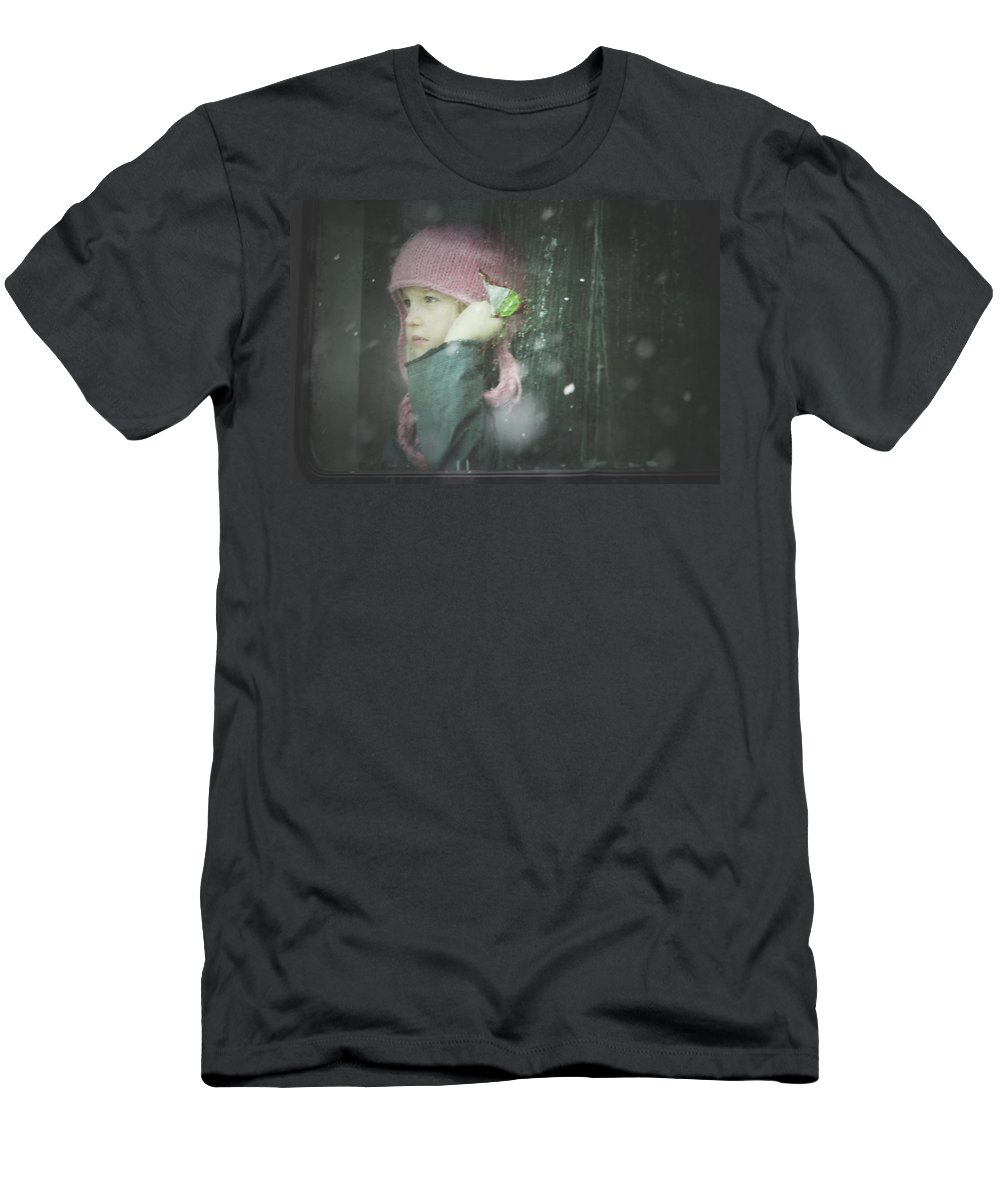 Children Men's T-Shirt (Athletic Fit) featuring the photograph Pink Hat by Valerie Rosen