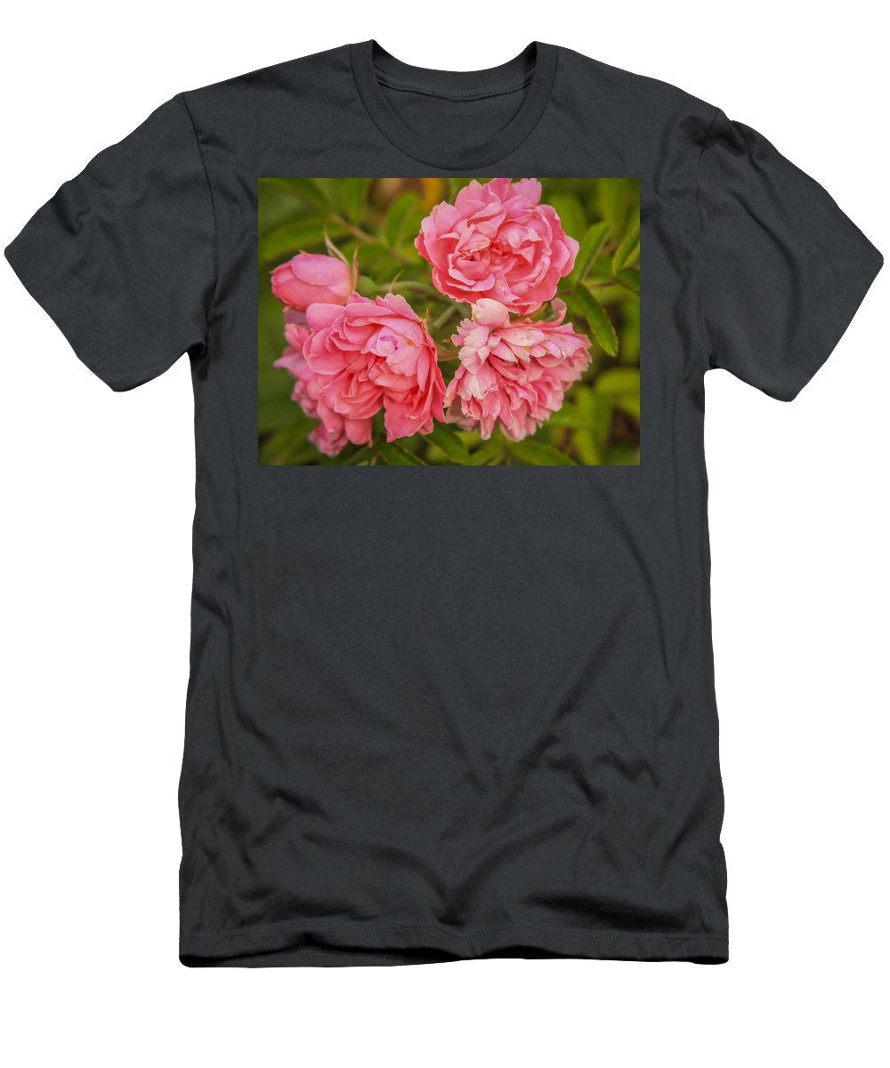 Flower Men's T-Shirt (Athletic Fit) featuring the photograph Pink Peonies by Jane Luxton