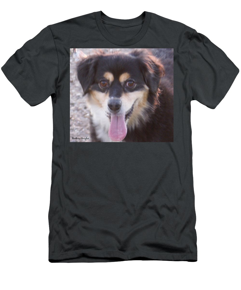 Pink Tongue Men's T-Shirt (Athletic Fit) featuring the digital art Pink Tongue by Barbara Snyder