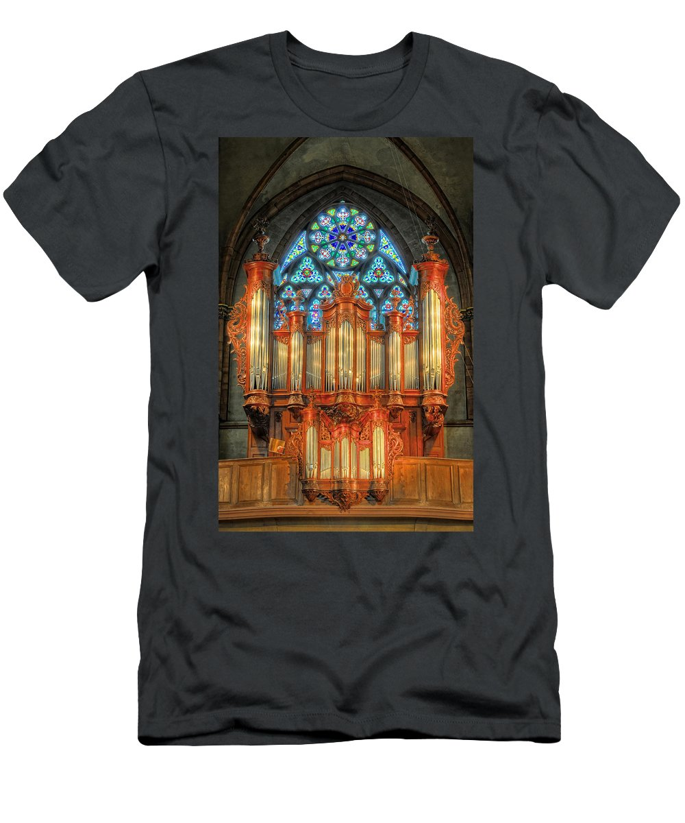 Pipe Organ Men's T-Shirt (Athletic Fit) featuring the photograph Pipe Organ by Dave Mills