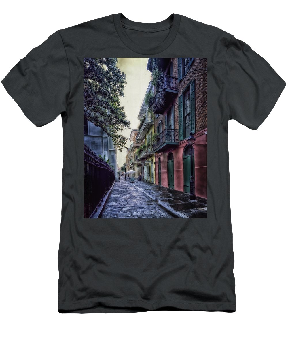 New Orleans Men's T-Shirt (Athletic Fit) featuring the photograph Pirate's Alley In New Orleans by Mountain Dreams