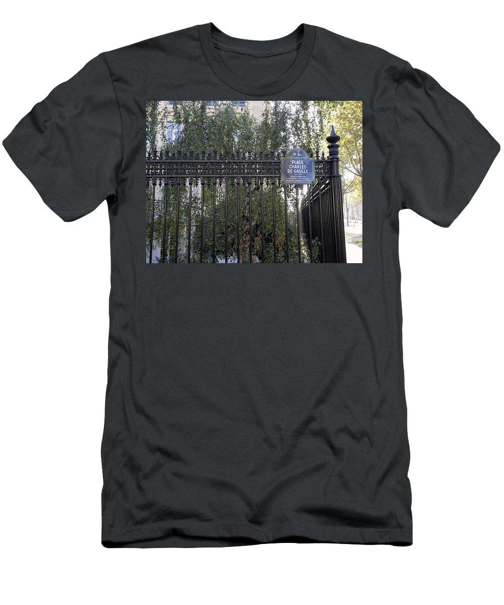 Paris Men's T-Shirt (Athletic Fit) featuring the photograph Place Charles De Gaulle In Paris France by Richard Rosenshein