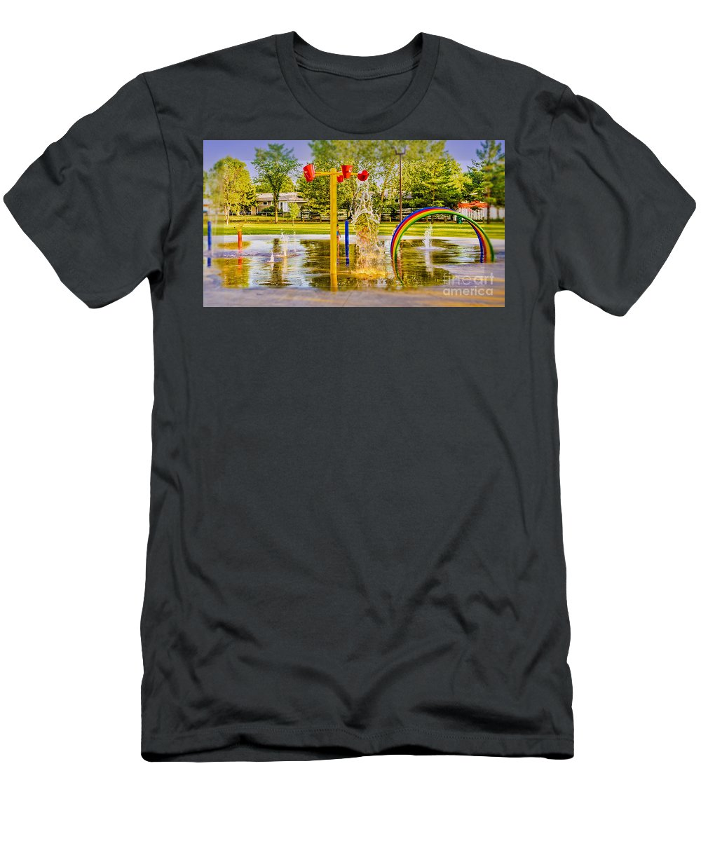 Playground Men's T-Shirt (Athletic Fit) featuring the photograph Playground by Viktor Birkus