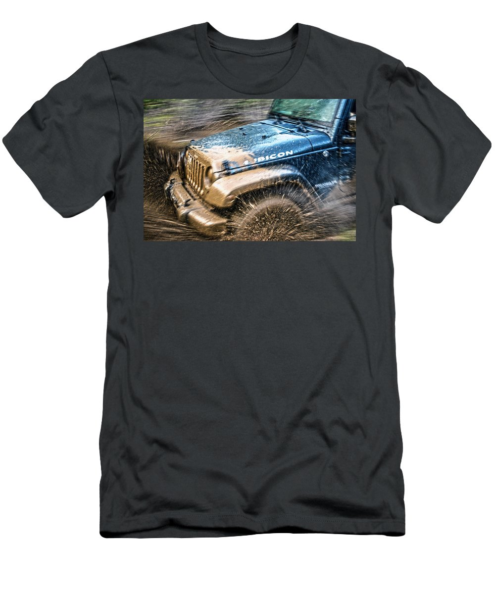 Off Men's T-Shirt (Athletic Fit) featuring the photograph Playing In The Mud by Anna Burdette