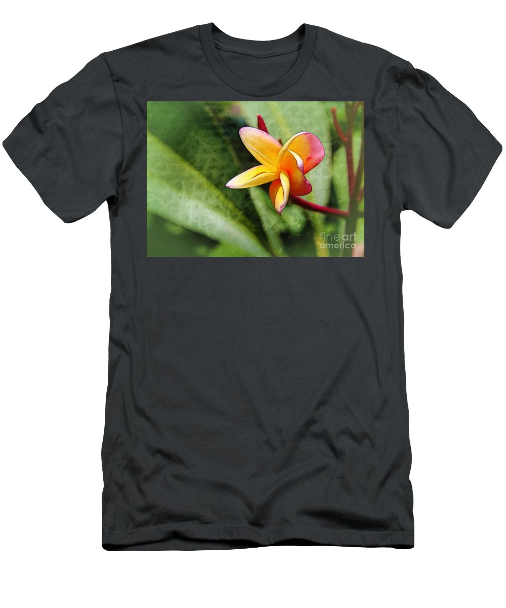 Plumeria Men's T-Shirt (Athletic Fit) featuring the photograph Plumeria by Judi Bagwell