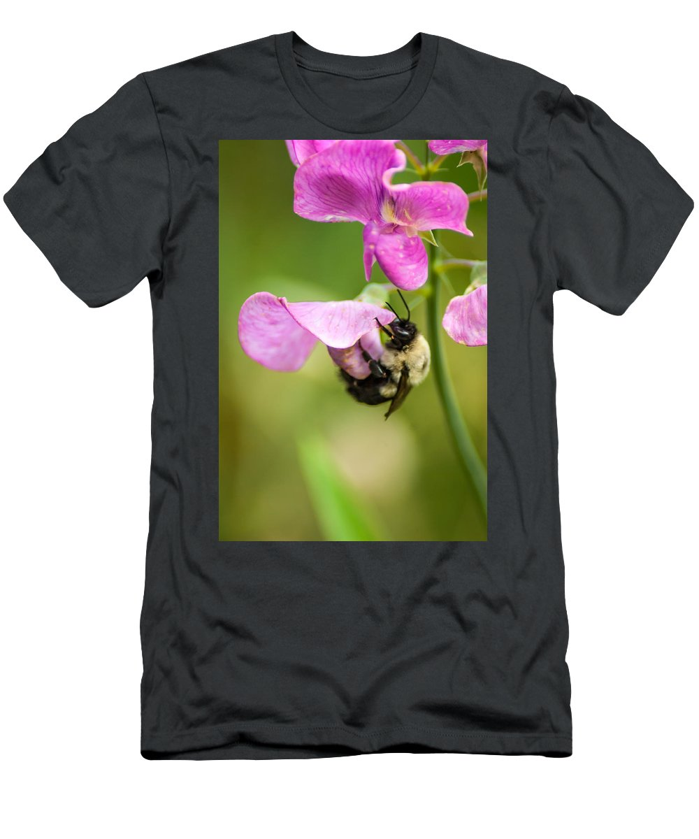 Optical Playground By Mp Ray Men's T-Shirt (Athletic Fit) featuring the photograph Pollination Nation Viii by Optical Playground By MP Ray