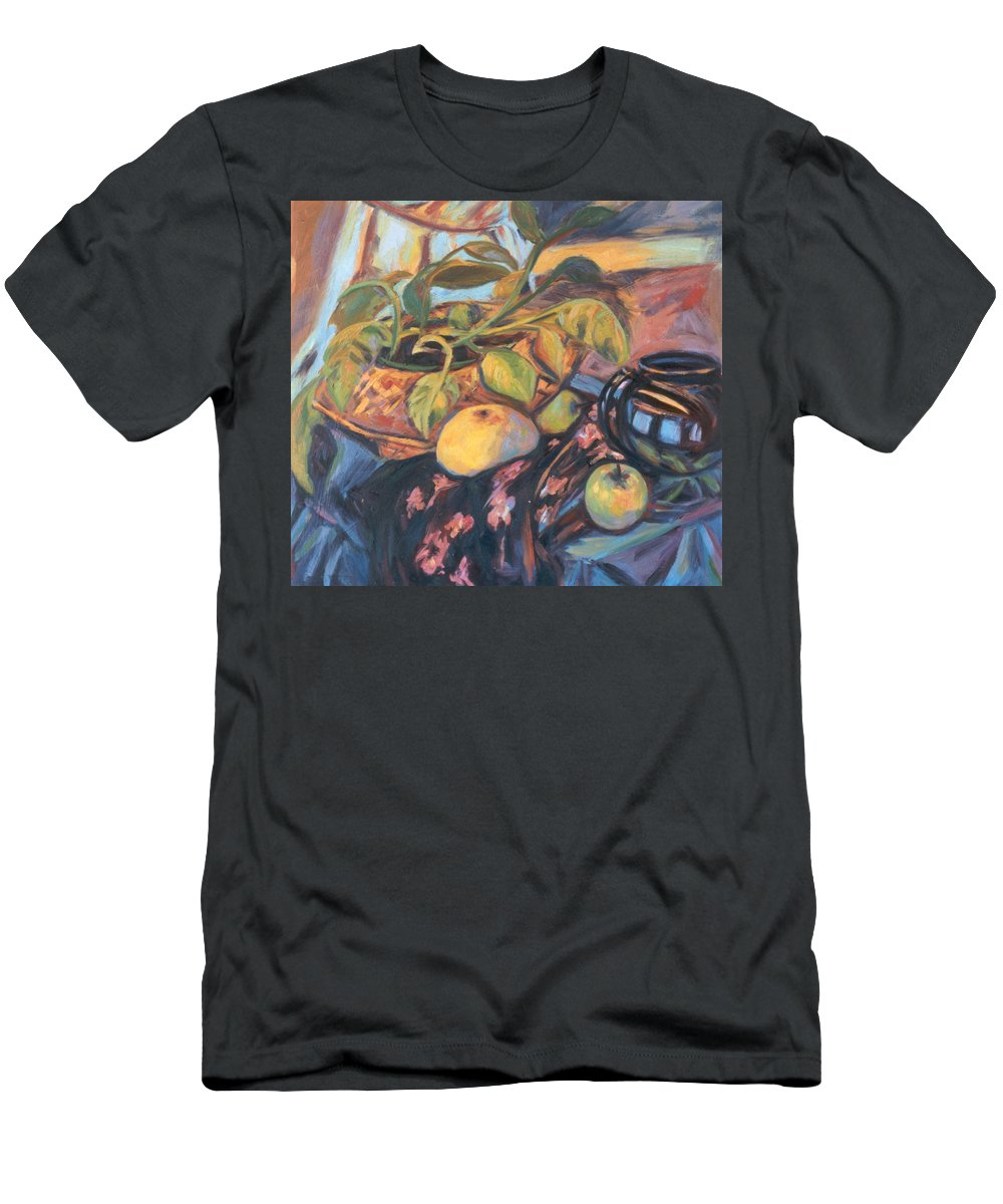 Still Life Men's T-Shirt (Athletic Fit) featuring the painting Pollys Plant by Kendall Kessler