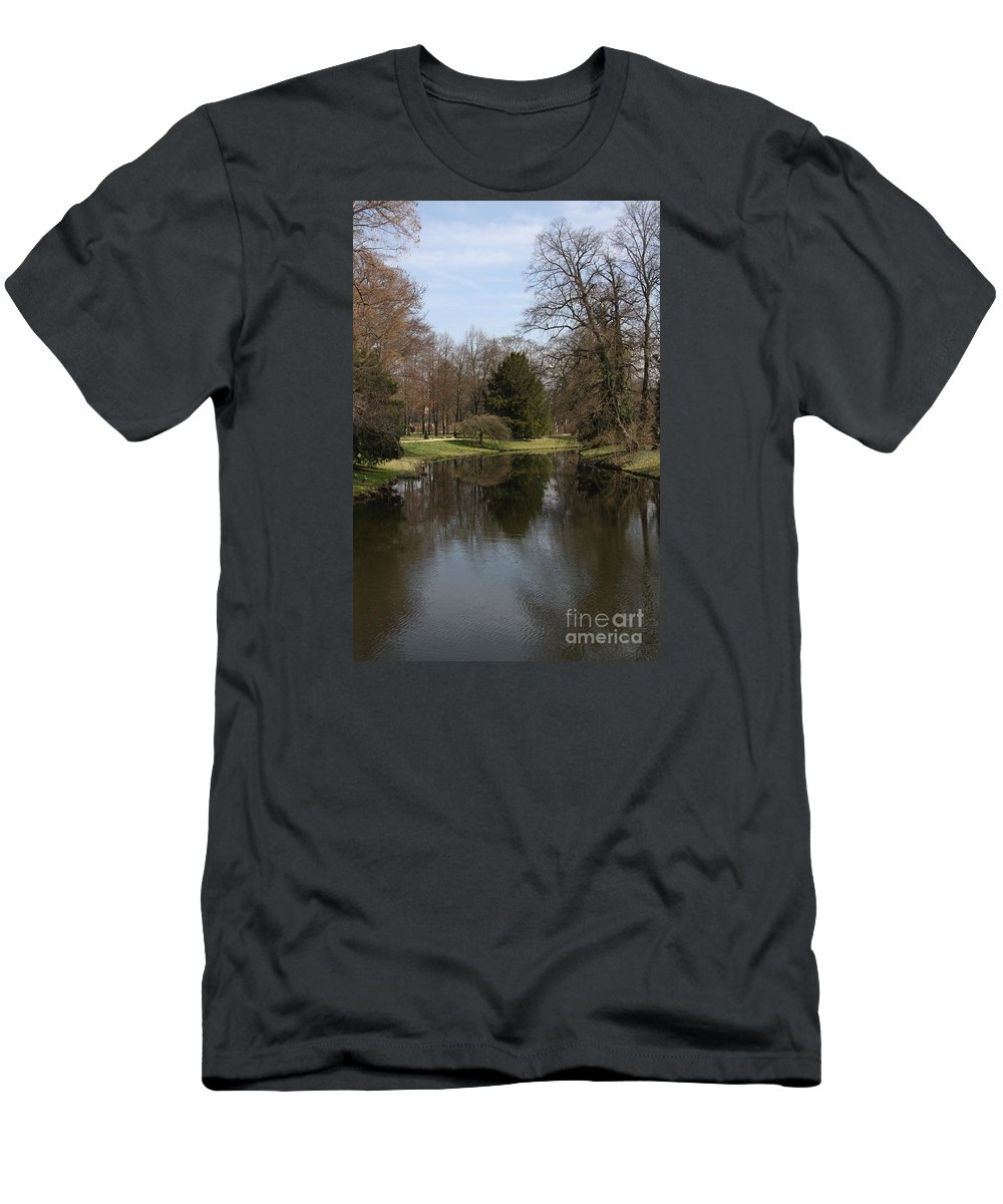 Pond Men's T-Shirt (Athletic Fit) featuring the photograph Pond In The Park by Christiane Schulze Art And Photography