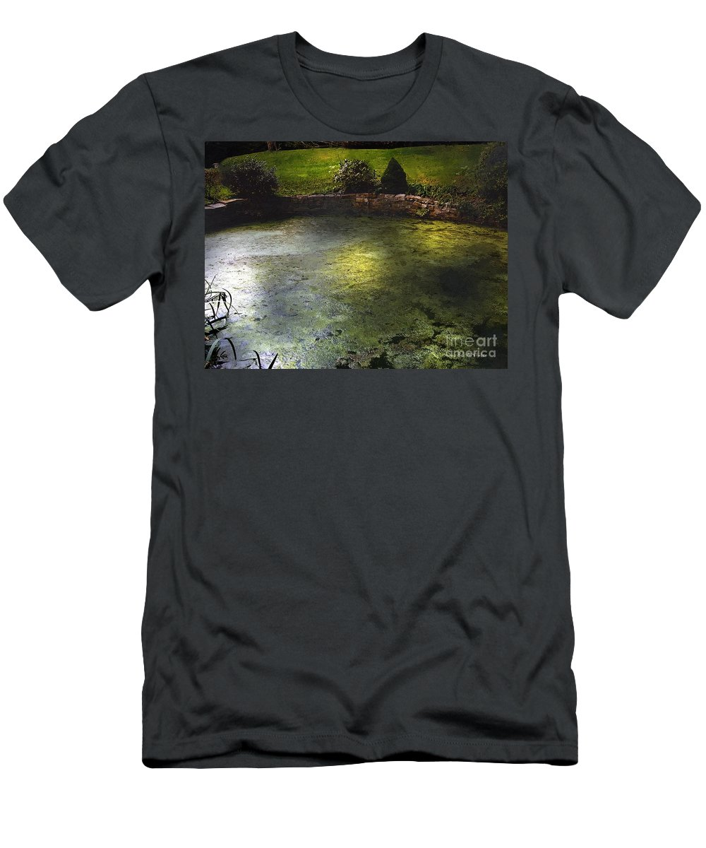 Pond Men's T-Shirt (Athletic Fit) featuring the painting Pondshine by RC DeWinter